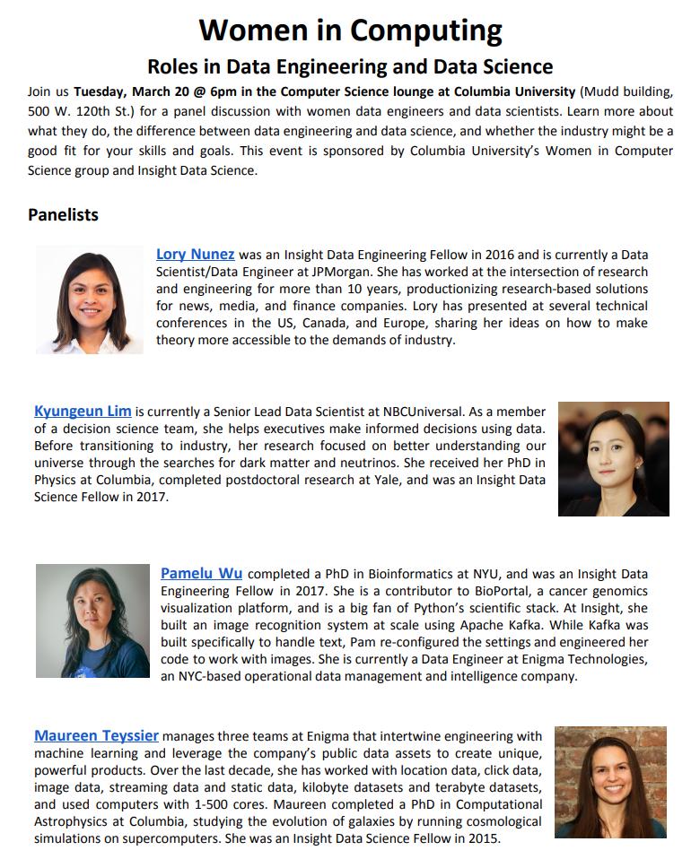 Insight Fellows Alumni Panel